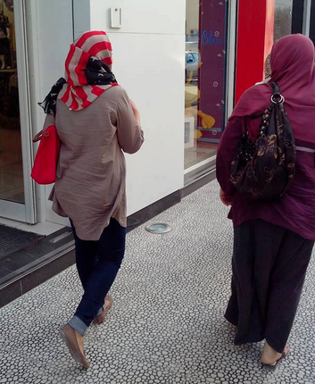 An American flag hijab.